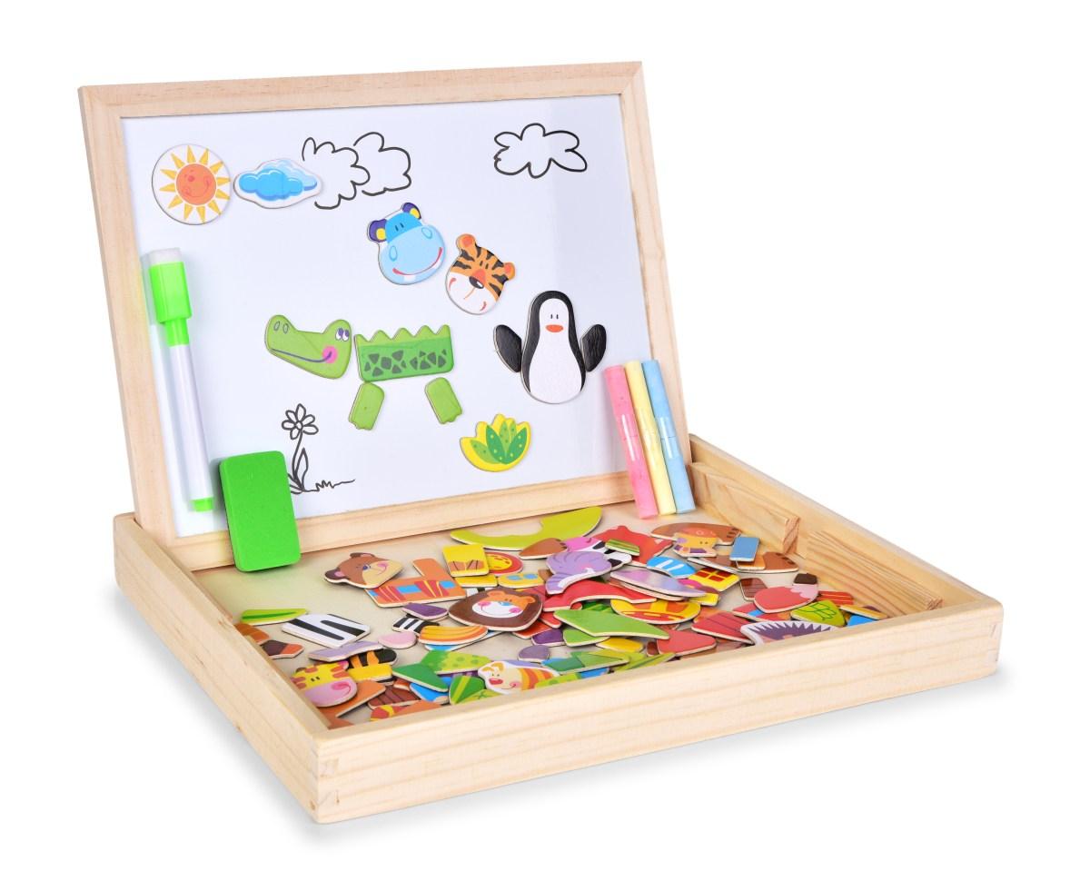 3v1 stolní oboustranná magnetická kreslící tabule