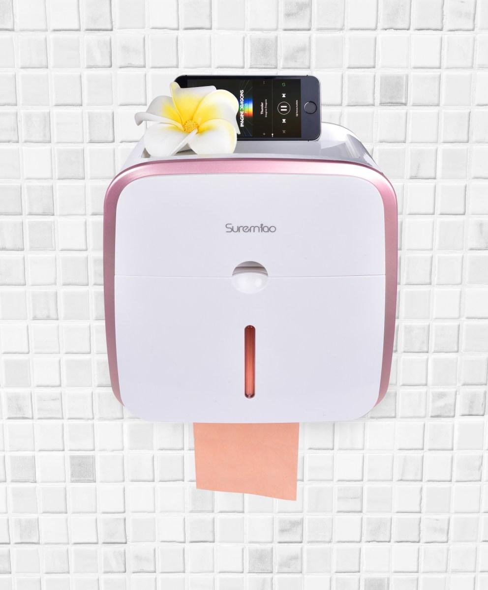 DA292412-WC skrinka na toaletný papier so zásuvkou na hygienické potreby