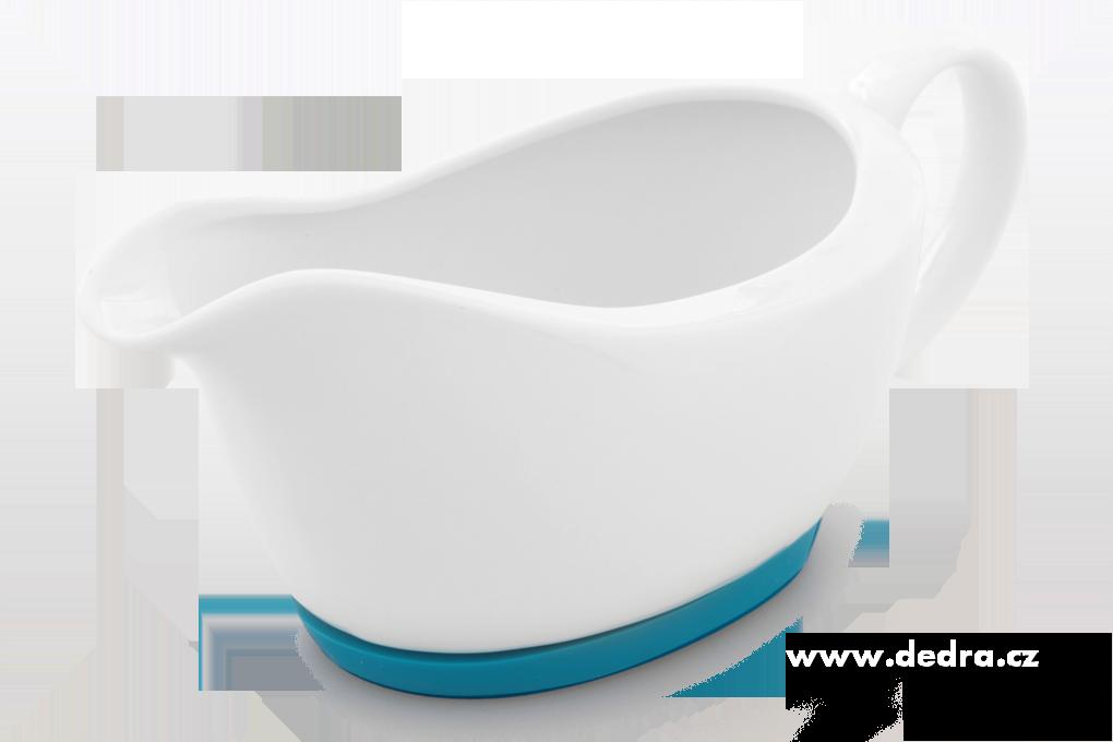 Porcelánový omáčníktyrkysový,obj.400 ml