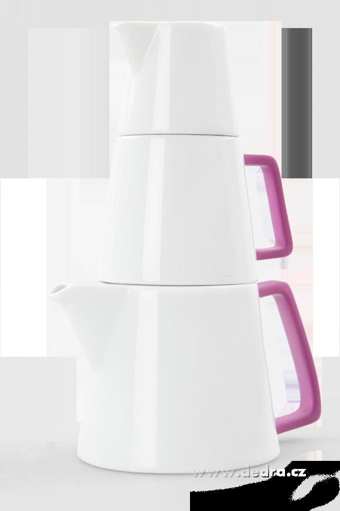 TRIO PYRAMIDA, porcelánový set 3v1