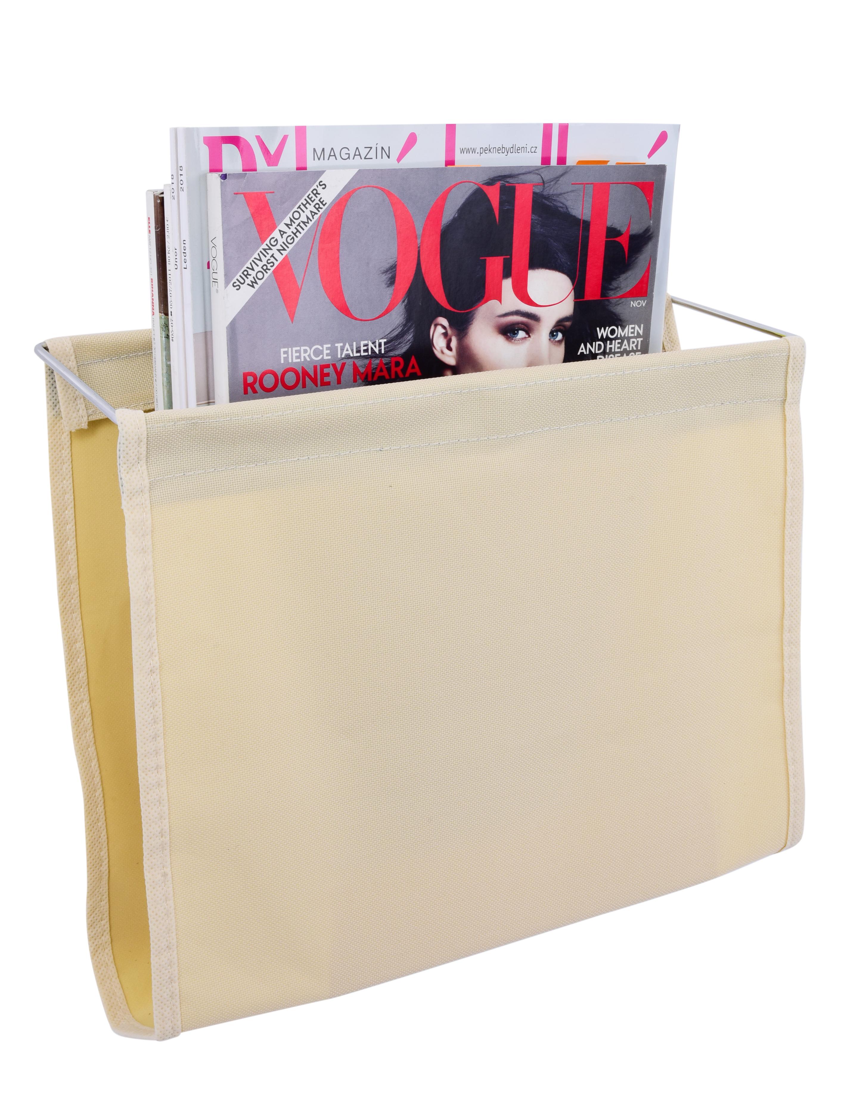 WC nástěnný držák na noviny a časopisy s přísavkami