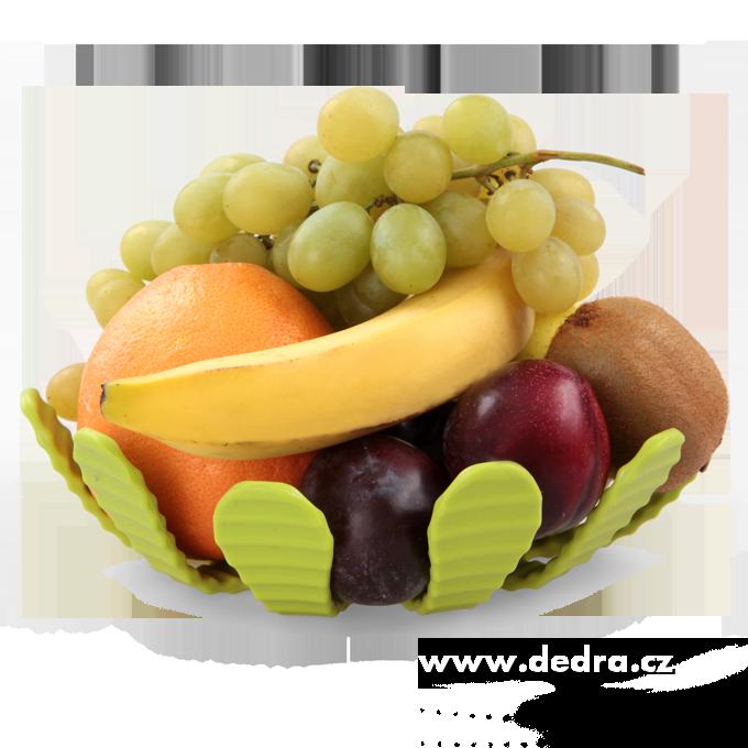 2v1 tvarovatelný pružný koš na ovoce nebo podhrncovník, kov a silikon