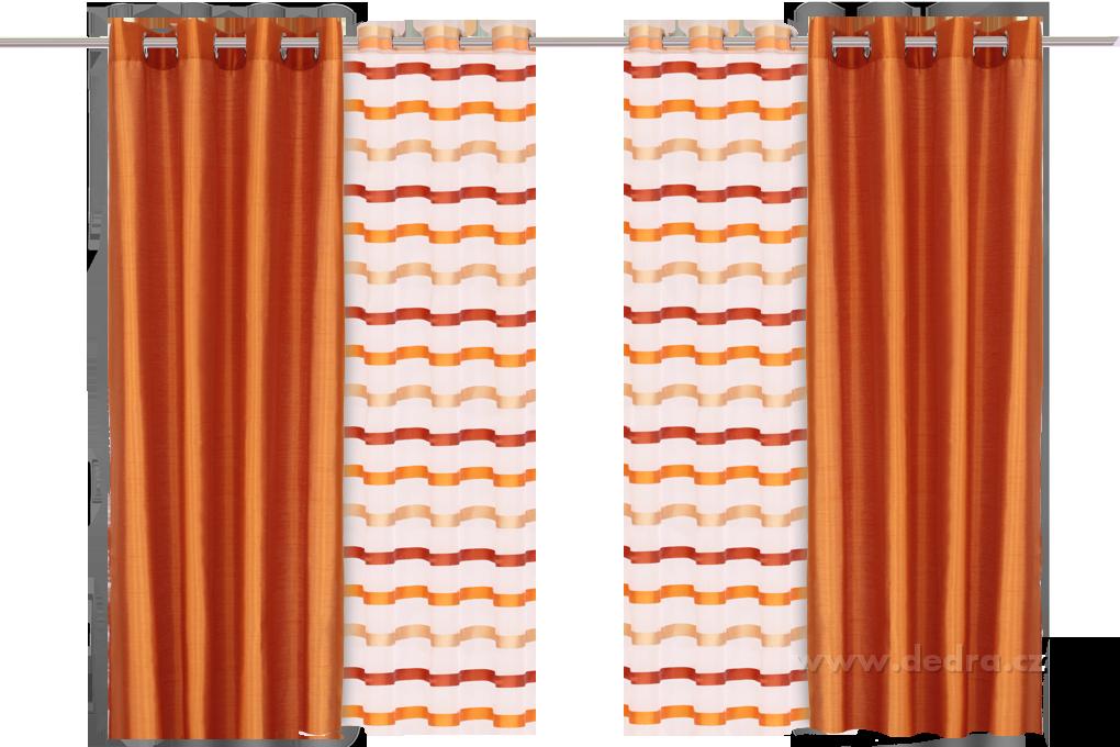 Záclona, s originálními pruhy