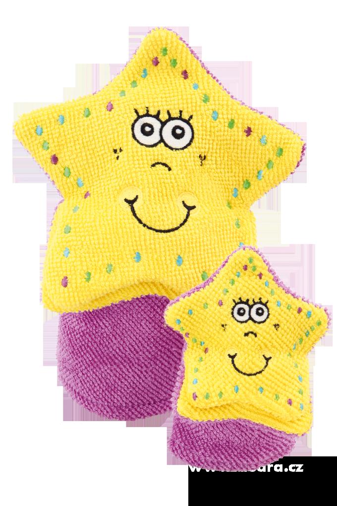 2 maňáskové žínky pro dítě a dospěláka hvězdy