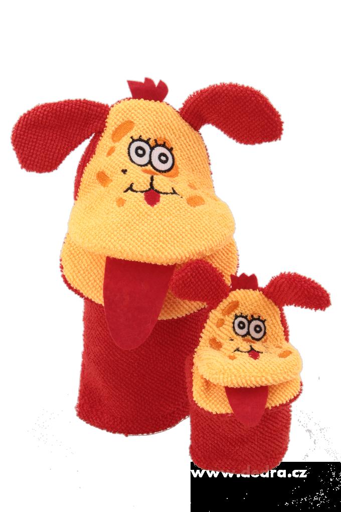 2 maňáskové žínky, pro dítě a dospěláka
