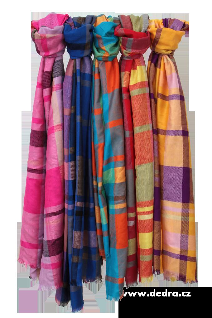 DA6773-Kockovaný pléd multicolor žlto-fialový