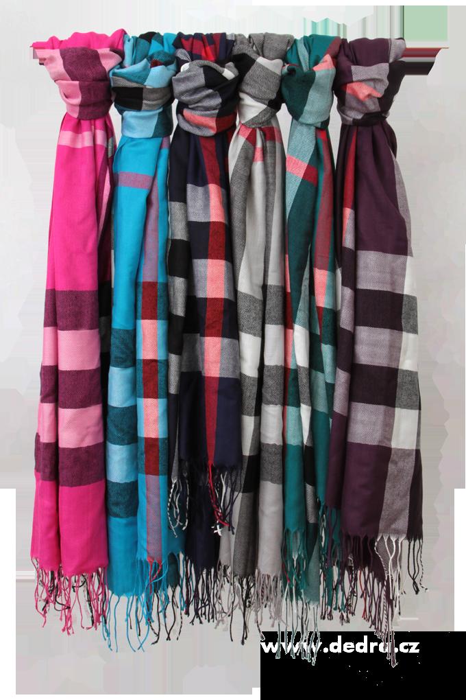 DA6776-Kockovaný pléd so strapcami fialový