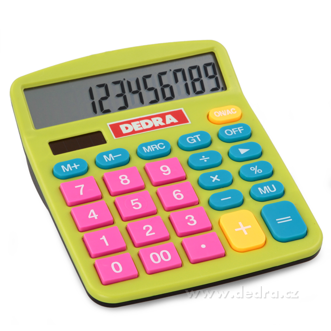 Dizajnová solárna kalkulačka - farebná