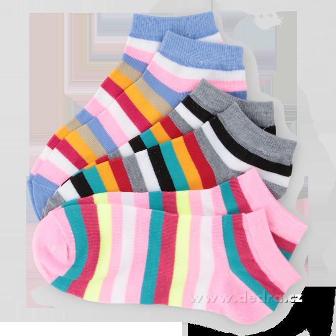 3 pack ponožkyREBELS - pruhované