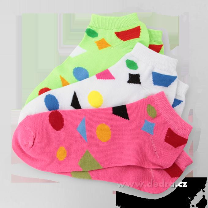 3 pack ponožky REBELS - geom.tvary