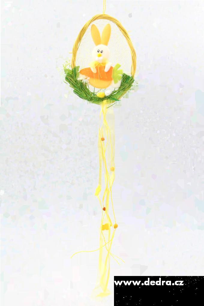 Zajíček ve žlutémvajíčku z ratanu