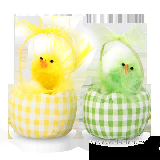 2 ks košíčkůs kuřátkyžlutý a zelený