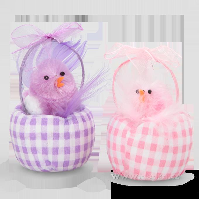2 ks košíčků, s kuřátky