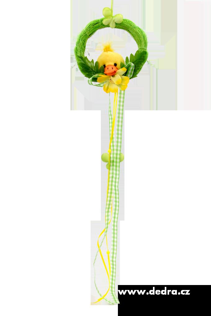 Plyšová kačenka 60 cm,, v zeleném kolečku