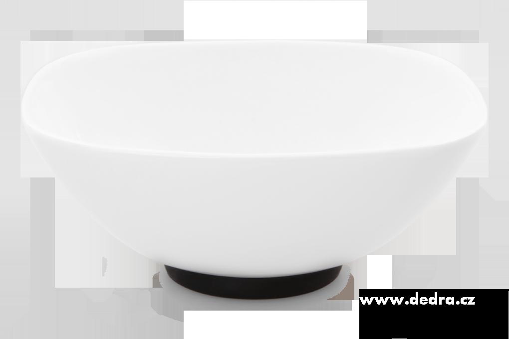 """Porcelánová mísa""""XL"""" 1400 ml, černá porcelán/silikon"""