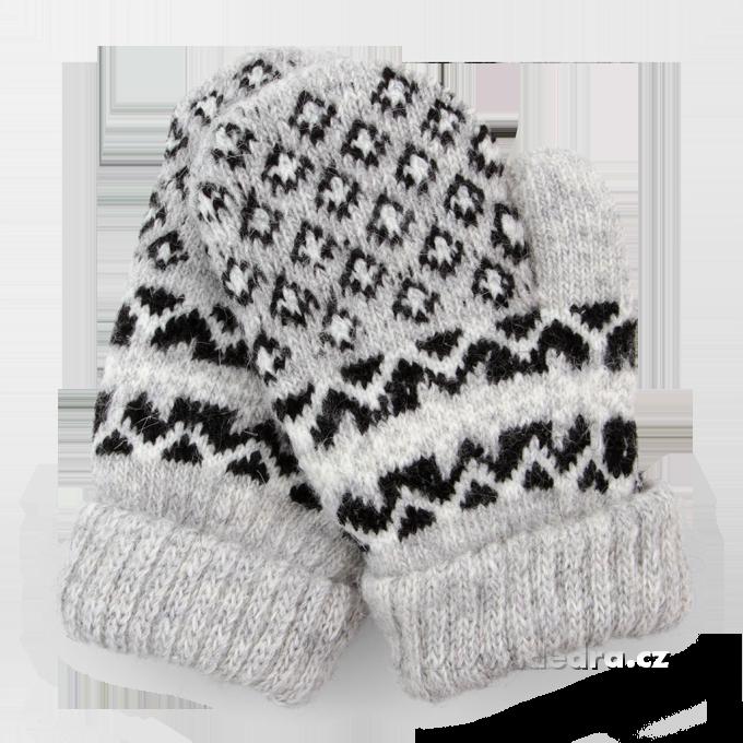 Dětské pletené, palčáky - šedé