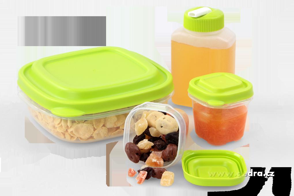4ks boxy a lahev na potraviny 2x 120ml,710ml,270ml