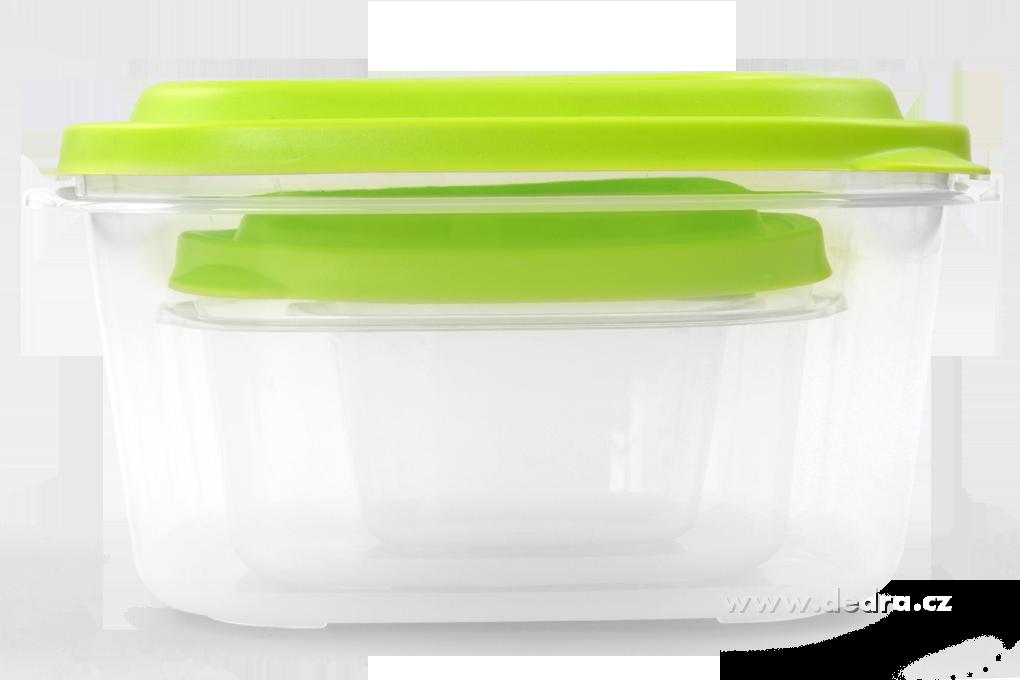3ks  boxy na potraviny, 500 + 1200 + 3300 ml