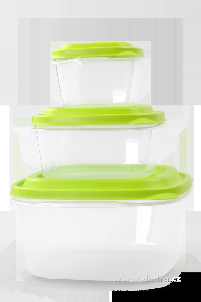 3ks  BOX 500ml+1200ml+3300ml speciální plast
