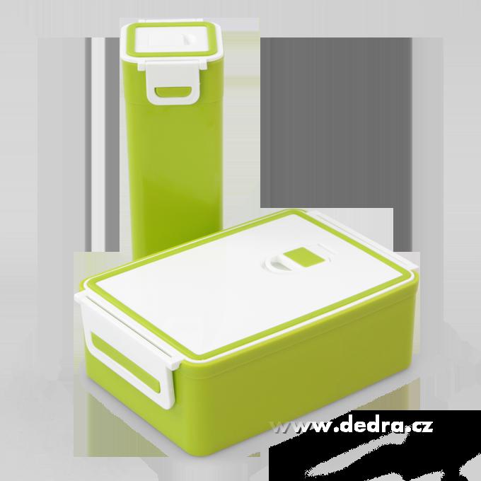 SVAČINÁTORY sada 2ks vzduchotěsných boxů na potraviny,zelený