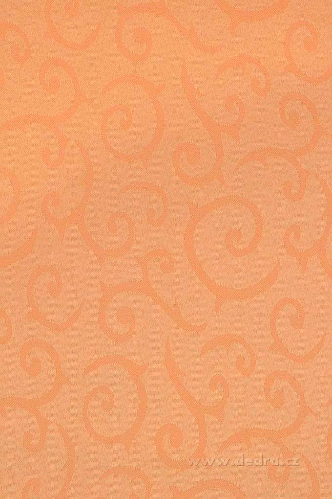 Ubrus na stůl 160 x 240 cm mandarin oranžový