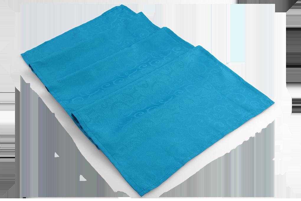 Běhoun na stůl 40 x 180 cm nebesky modrý