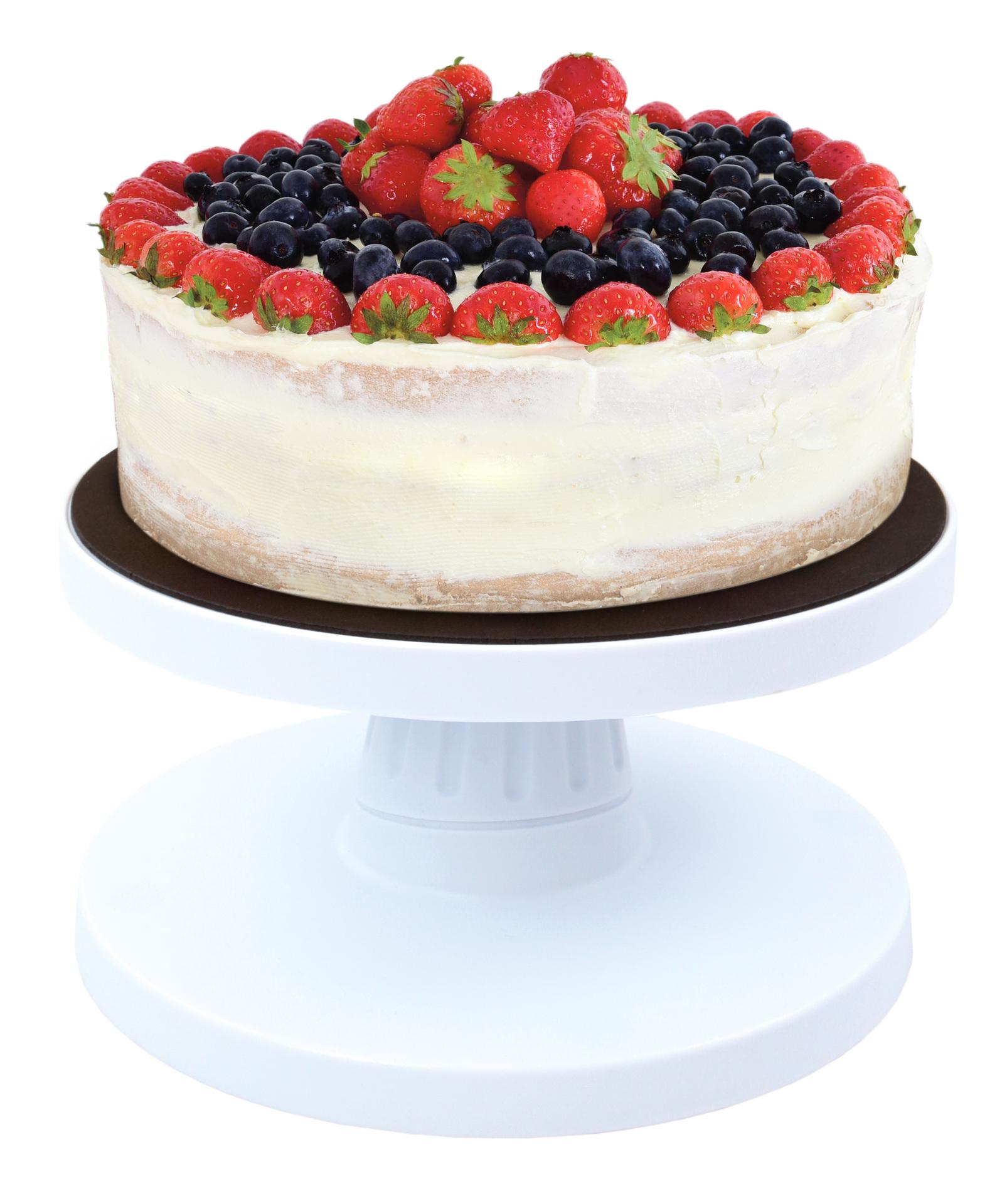 Velký otočný stojan na zdobení dortů, sklopný a s protiskluzem