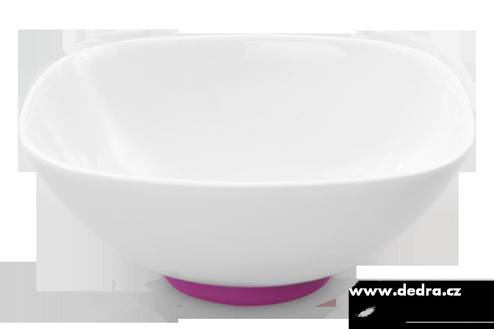 """Porcelánová mísa""""XXL 2600 ml, fuchsiová porcelán/silikon"""