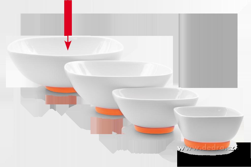 """Porcelánová mísa""""XXL, 2600 ml, oranžová"""