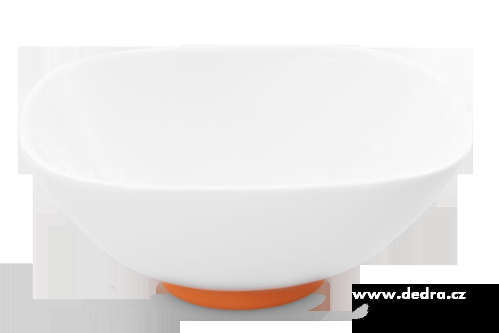 """Porcelánová mísa""""XXL 2600 ml, oranžová porcelán/silikon"""