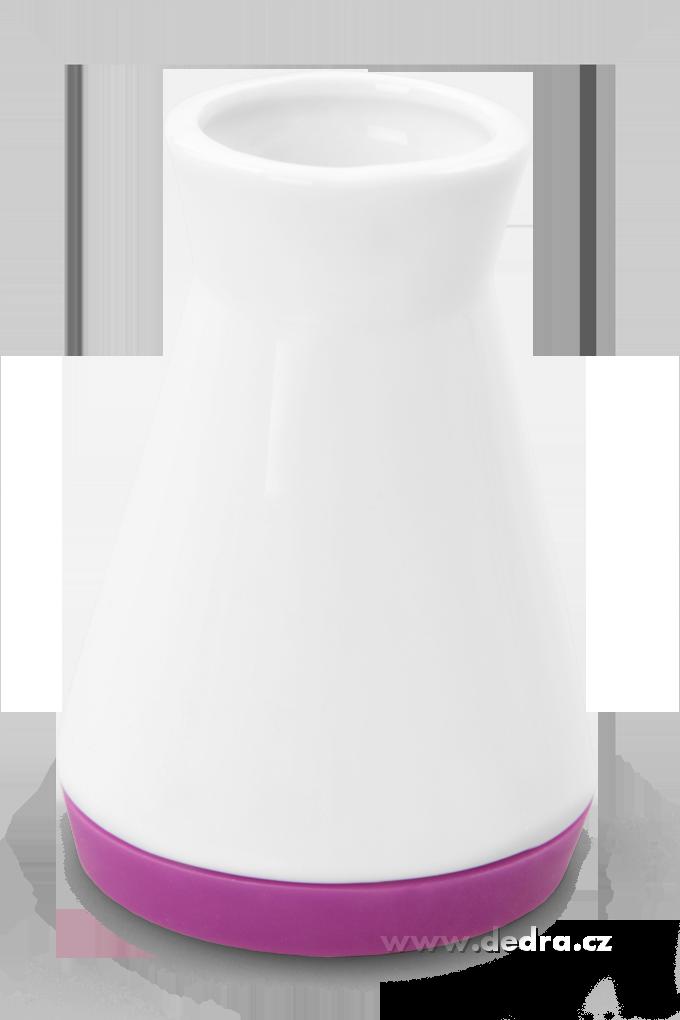 Dóza na párátka fuchsiová porcelán/silikon