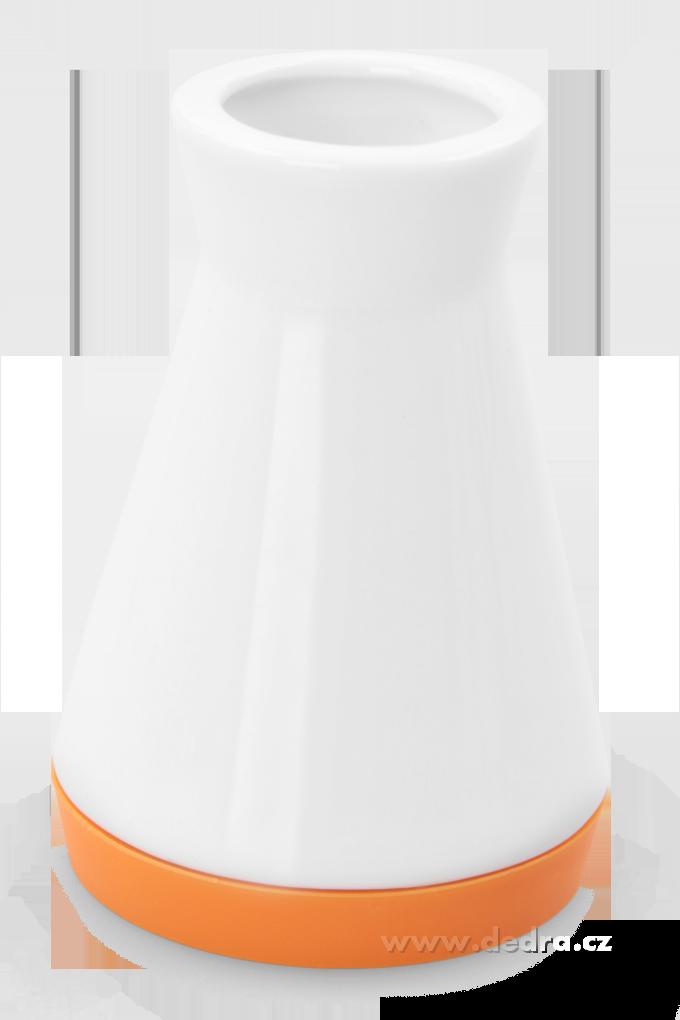Dóza na párátka oranžová porcelán/silikon