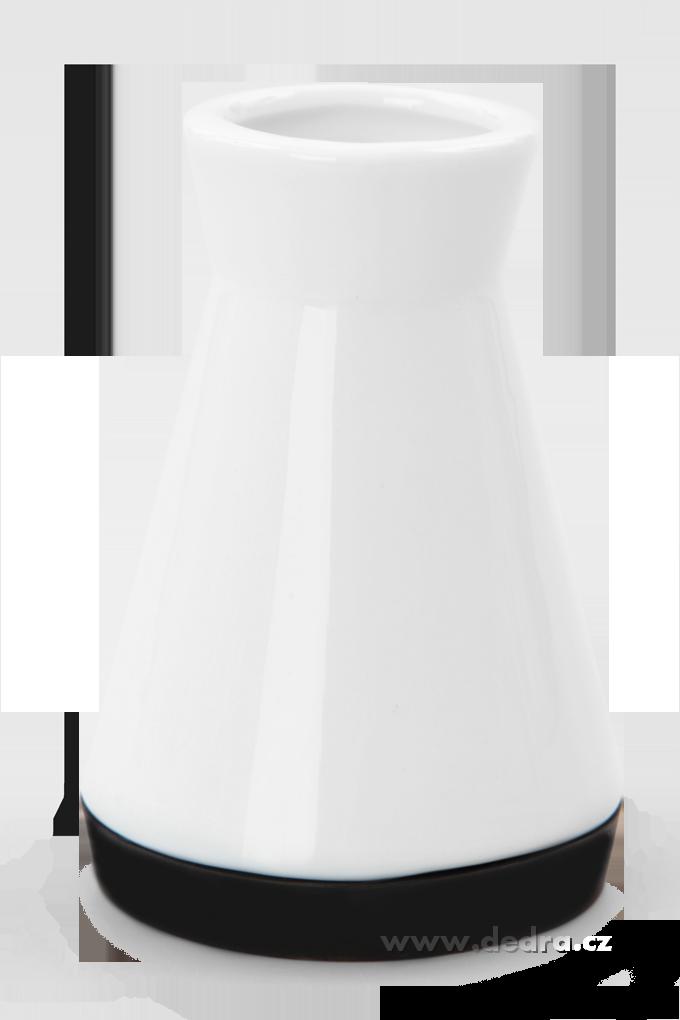 Dóza na párátka černá porcelán/silikon