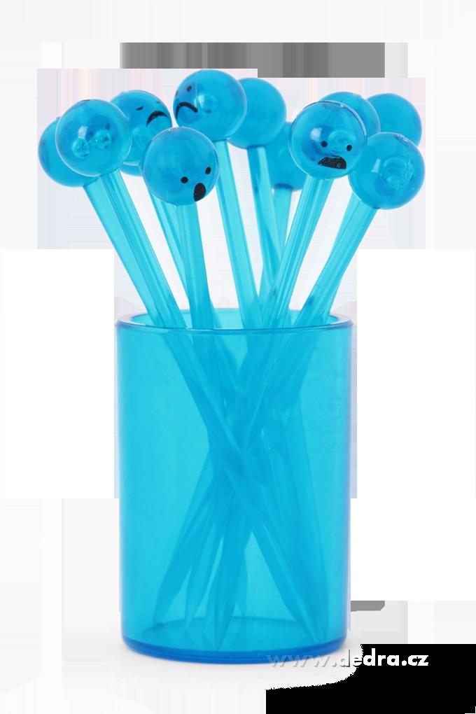 12 XXL napichovátek ve stojánku modré