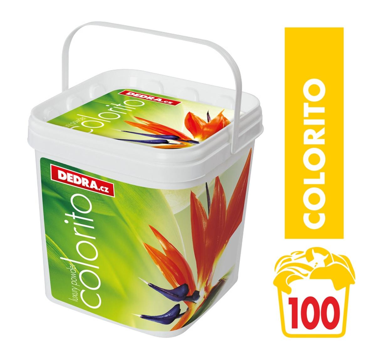 COLORITO 100 PRANÍ na barevné prádlo, 5 kg + box koncentrovaný prací prášek