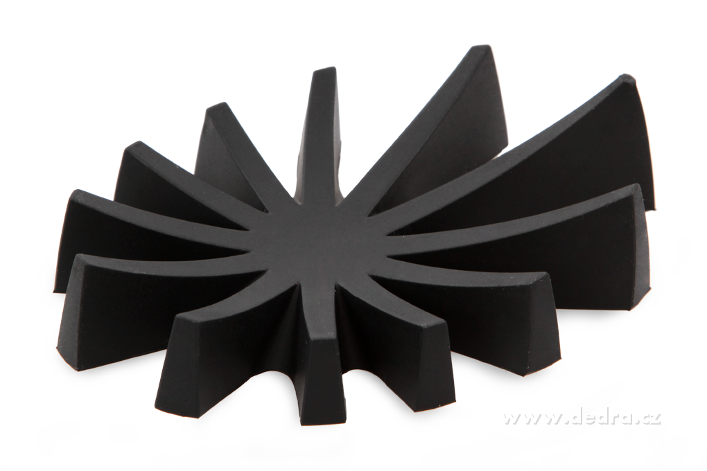 Mýdlovník černý stojan na tuhá mýdla silikon