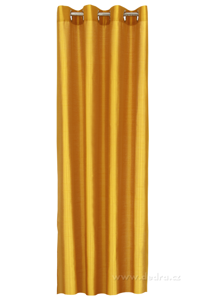 Závěs z pevné neprůhledné tkaniny,žloutkový