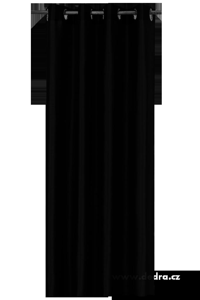 Závěs z pevné neprůhledné tkaniny černý