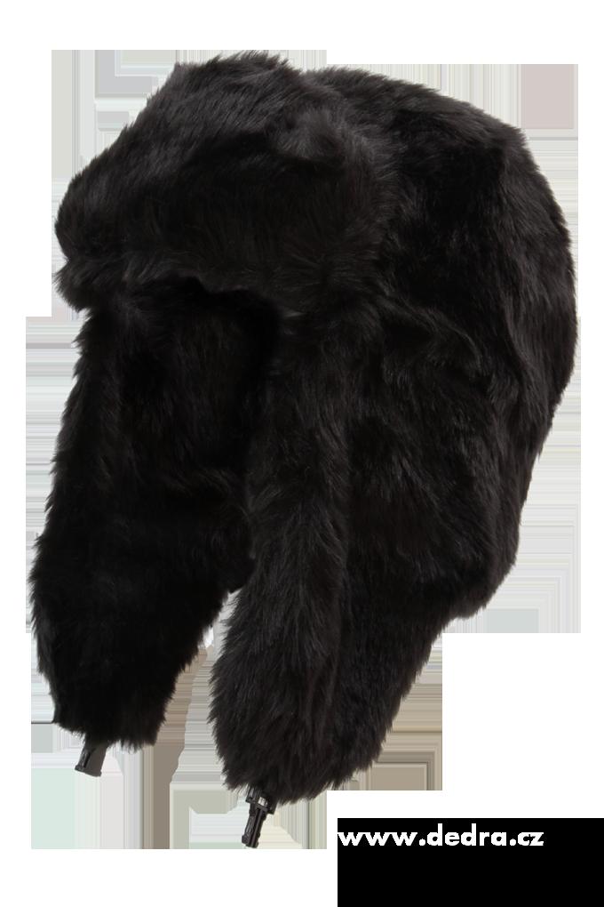 Módní unisex UŠANKA, z umělé kožešiny