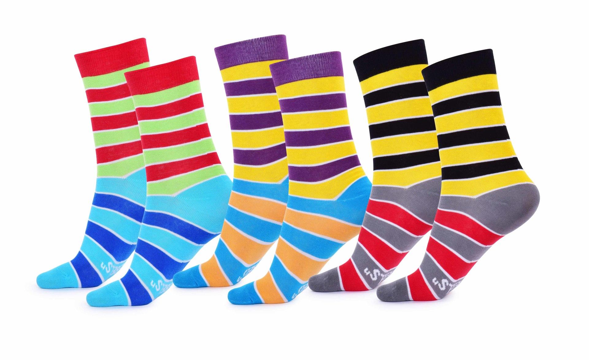 Sada 3 párů pánských ponožek REBELS, pruhy