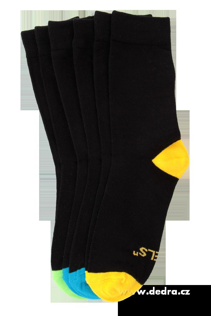 Sada 3 párů vysokých ponožek REBELS velikost 41-46
