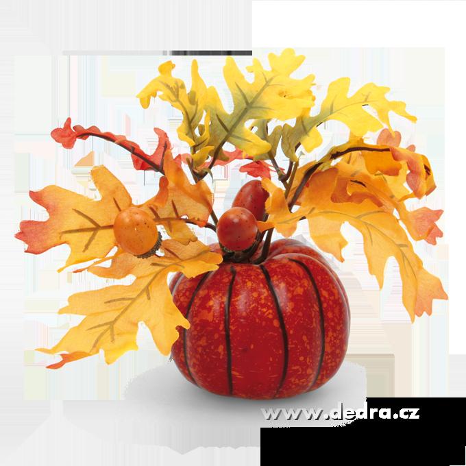 Ozdobná dekorace, v podzimních barvách 21 cm