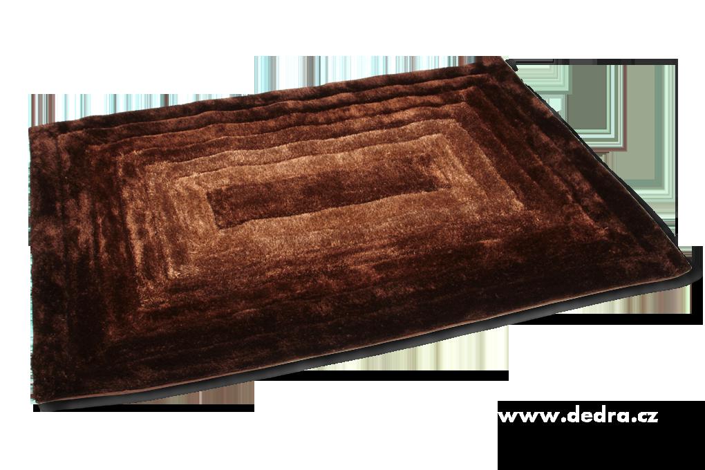 SHARON 3D KOBEREC, hnědý, 160x230 cm