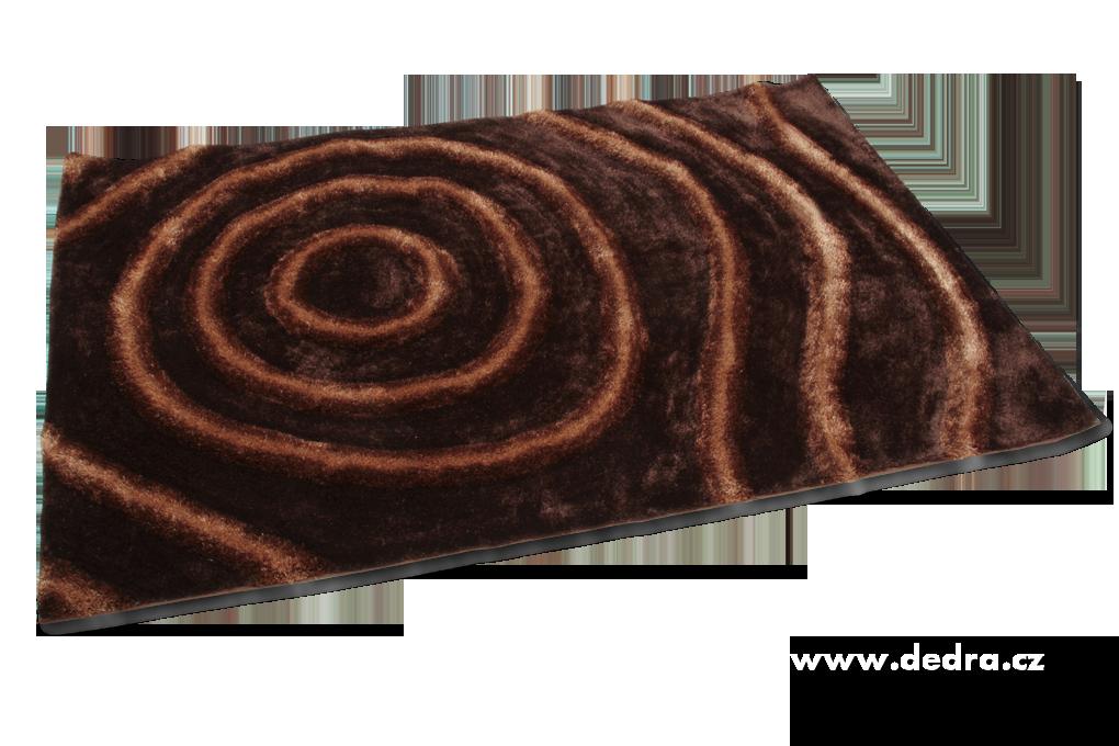SHARON 3D KOBEREC čokoládový,160x230cm