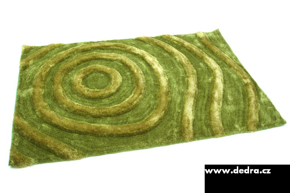 SHARON 3D KOBEREC, zelený, 160x230 cm