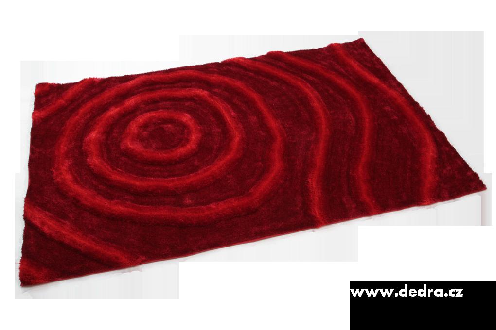 SHARON 3D KOBEREC, bordó, 160x230 cm