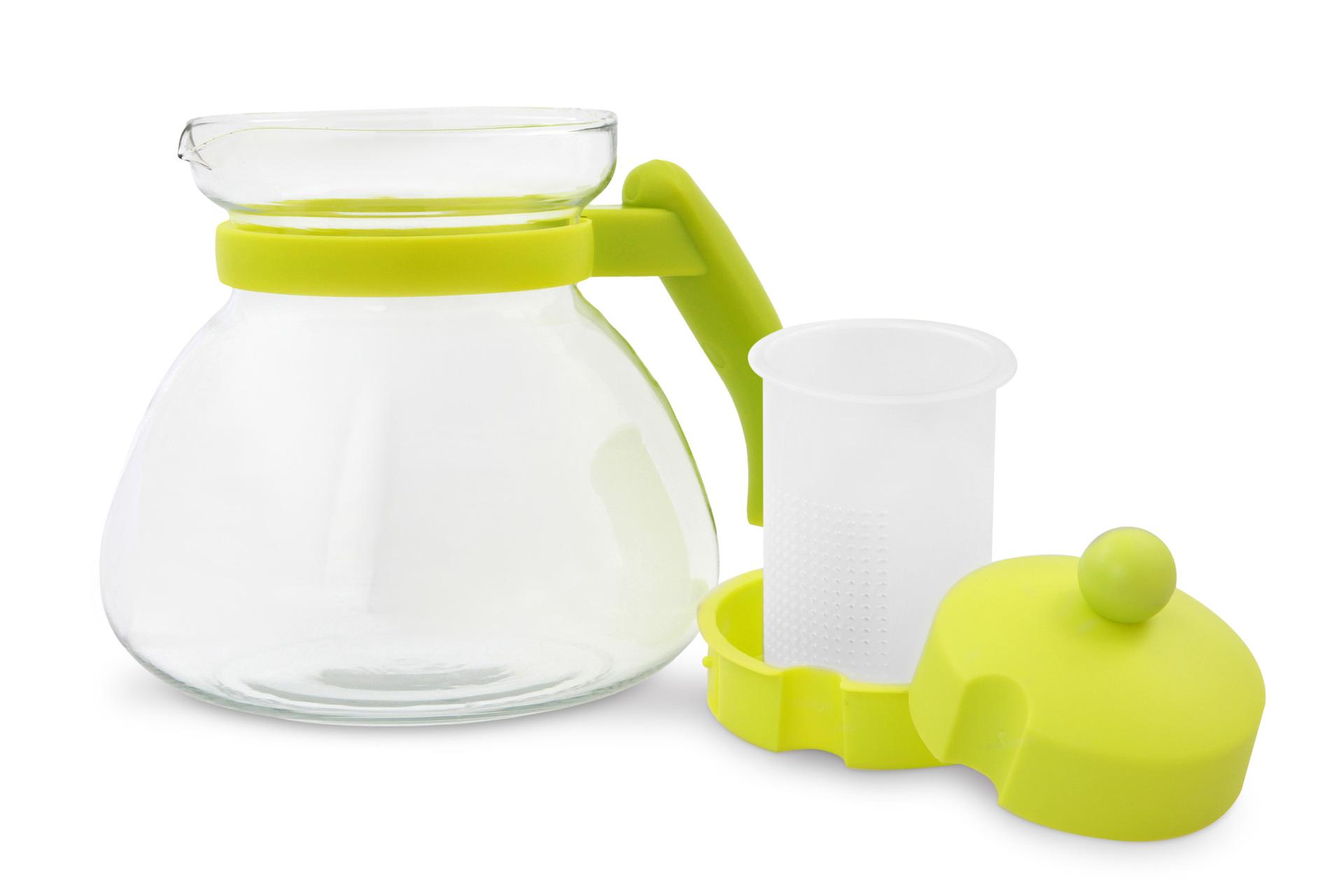 SKLENĚNÁ KONVICE, jasně zelená,1500 ml