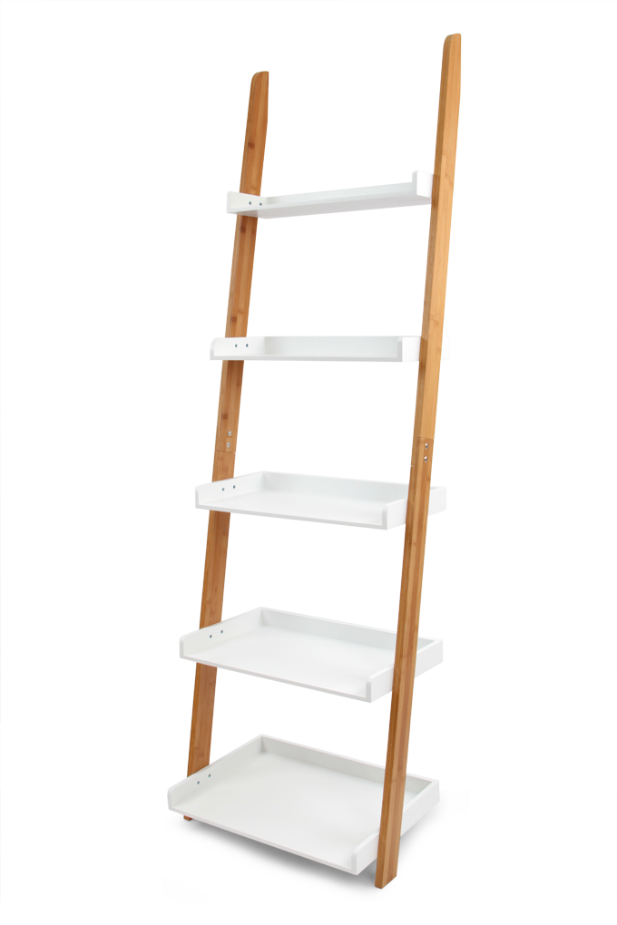 Opěrný pětipatrový regál z bambusu GoEco®