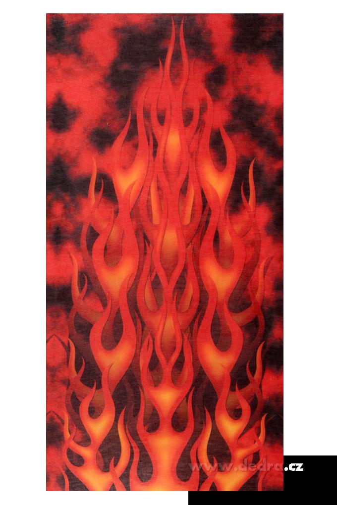 Multifunkční šátek, s motivem ohně