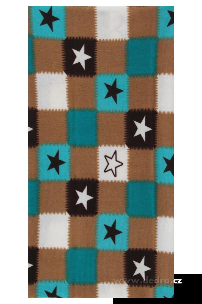 Multifunkční šátek, kost.s motivem hvězd
